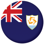 Anguilla Country Flag 25mm Flat Back